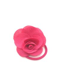 Elastiekje met klein roosje roze