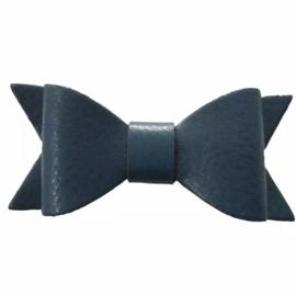 Lederen strikje marine blauw