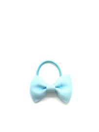 Elastiekje mini met strikje lichtblauw