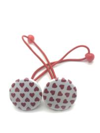 Elastiekjes met buttons hartjes