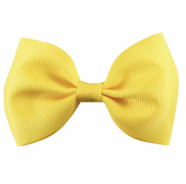 Strikje stof geel