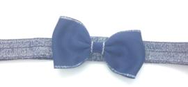 Babyhaarbandje met strikje marineblauw