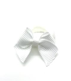 Baby elastiekje wit strikje