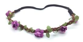 Zomerse bloemenbandje paars