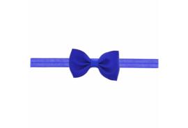 Babyhaarbandje met strikje royaal blauw