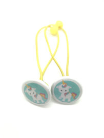 Elastiekjes met buttons unicorn