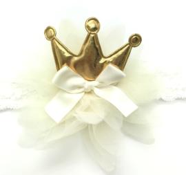Haarbandje kroontje goud