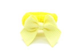 Baby elastiekje geel met klein strikje
