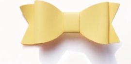 Lederen strikje oker geel