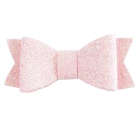 Glinster strikje licht roze