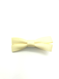 Strikje fijn lint pastel geel