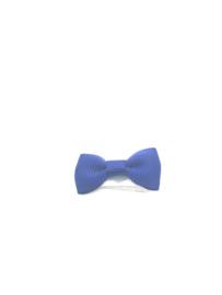 Klittenbandspeldje met strikje kobaltblauw