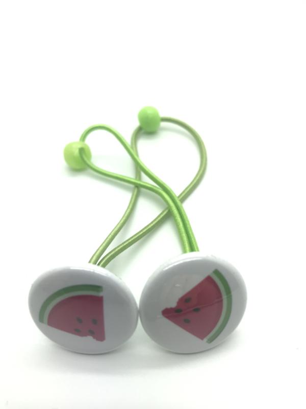 Elastiekjes met buttons watermeloen
