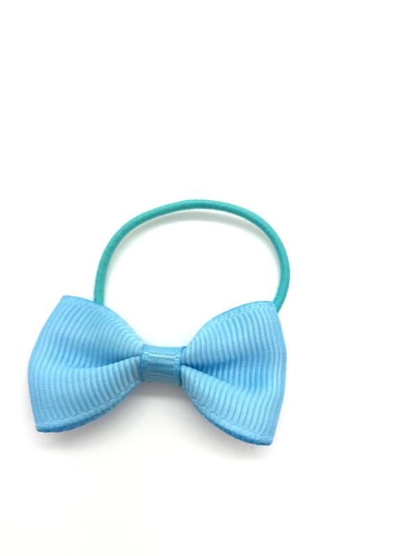 Elastiekjes met strikje lichtblauw