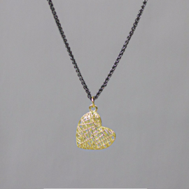Jeh Jewels collier zilver oxy + hanger 14kt hartje