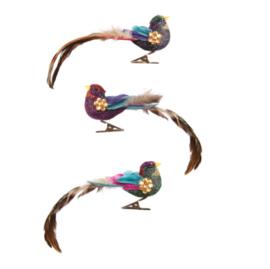 &Klevering bird clips - festival, set of  3
