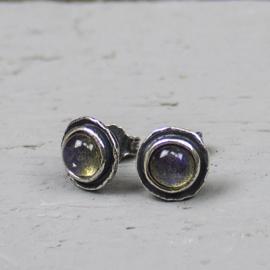 Jeh Jewels oorstekers zilver met labradoriet