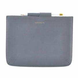 Monograph sleeve for mini iPad leather light blue