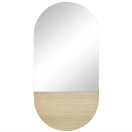 Hubsch spiegel met eikenhout