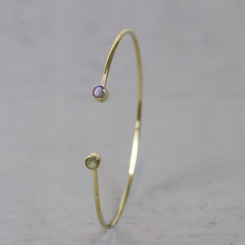 Jeh Jewels klem armband goldfilled labradoriet