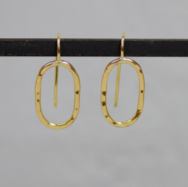 Jeh Jewels drop earrings goldfilled oval hammered
