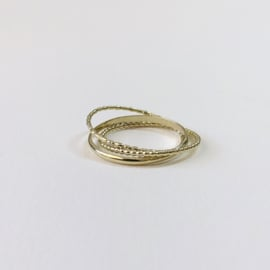 Ile d'Or ring - set van 3 in 14kt geelgoud