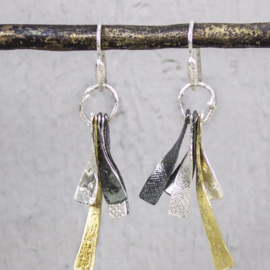 Jeh Jewels dangle earrings silver, silver oxy and goldplated