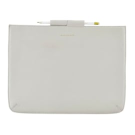 Monograph sleeve for mini iPad leather light grey