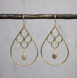 Jeh Jewels dangle earrings goldplated with labradorite