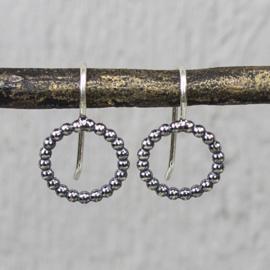 Jeh Jewels oorhangers zilver pareldraad groot