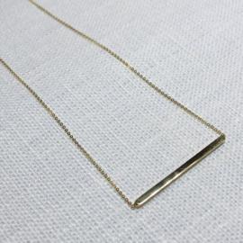 14 karaat goud collier staafje