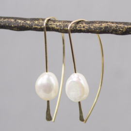 Jeh Jewels drop earrings goldfilled and white pearl