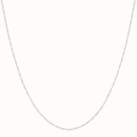 Flawed - figaro collier zilver