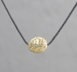 Jeh Jewels collier zilver oxy + hanger 14kt ovaal