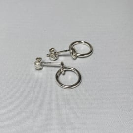 Charlotte Wooning oorstekers Bague Small, zilver