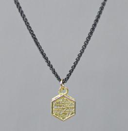 Jeh Jewels collier zilver oxy + hanger 14kt hexagon
