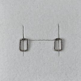 Eva Schreuder oorstekers Sporen, zilver