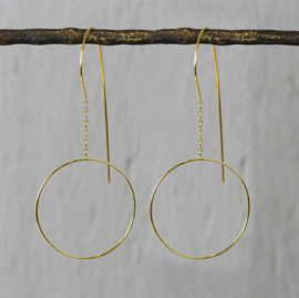 Jeh Jewels dangle earrings goldfilled circle