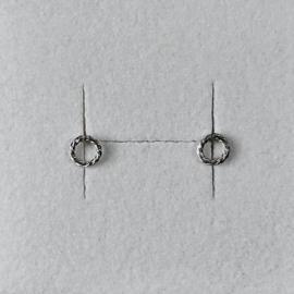 Eva Schreuder oorstekers Goute N*1, zilver