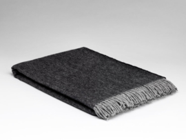 Mc Nutt of Donegal lambswool blanket, Graphite