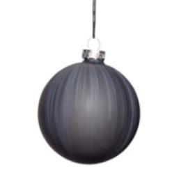 Christmas bauble glass L black