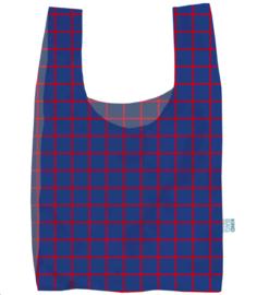Kind Bag London Grid blue&red