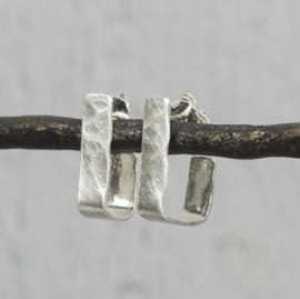 Jeh Jewels oorstekers zilver creool vierkant