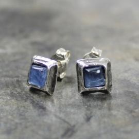 Jeh Jewels oorstekers zilver kyaniet