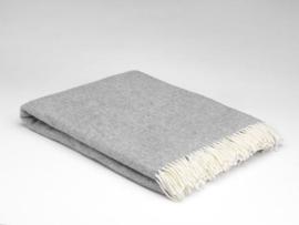 Mc Nutt of Donegal lambswool blanket, Uniform grey