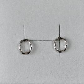 Eva Schreuder oorstekers Goute N*4, zilver