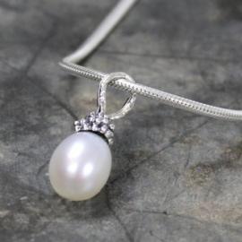 Jeh Jewels hanger zilver - zoetwaterparel wit