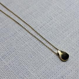 14 karaat goud collier druppel