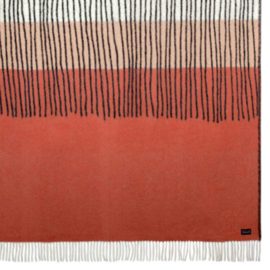 Lina Johansson Wool Blanket Draw Rosehip