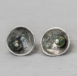 Jeh Jewels oorstekers zilver oxy + pyriet